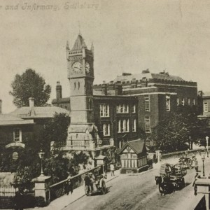 The Clock Tower and Infirmary in Salisbury c. 1904