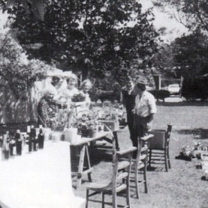 garden produce and bottle stalls at the Annual Fete 1983