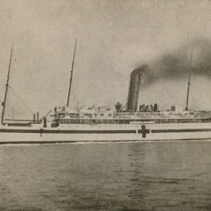 H.M. Hospital Ship Oxfordshire c. 1912
