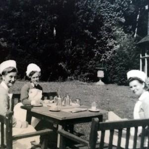 nurses in a garden