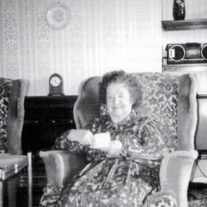 resident Miss McNeal in the lounge 1997