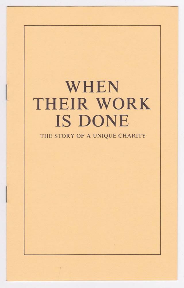 The cover of When Their Work is Done by Dr R Edward Chaplin